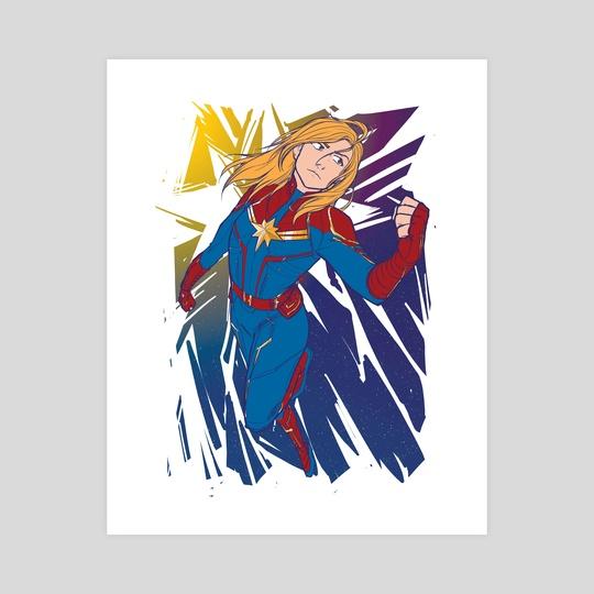 Captain Marvel by Cazel Rulloda