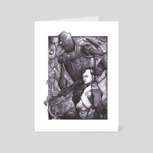 Napoleon (Black and White) - Art Card by M. Scott Hammond