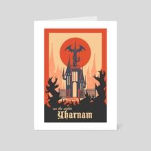 Vintage Bloodborne Travel Poster - Art Card by Martin Montgomery