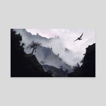 The Cruel Mountains - Canvas by Elif Siebenpfeiffer