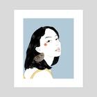 Sparrow 002 - Art Print by Amity Miyabi