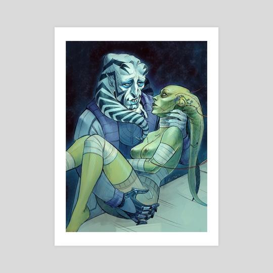 Velenis and his MonsterBride by Li Didkovsky
