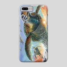 Riders of the sunset - Phone Case by Alex García