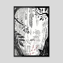 the garden - Acrylic by monday einstein