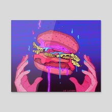 BURGER 2.0 - Acrylic by Liz Lathem