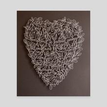 The End - Canvas by karen tharp