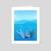 Waves - Art Card by Maureen Keeney