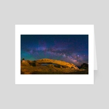 Mesa Arch Milky Way - Canyonlands National Park by Abdul Dremali - Art Card by Abdul Dremali