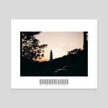 Silhouette Sunset  - Canvas by John Jackson