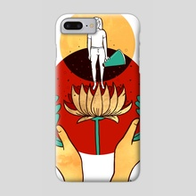 Talking As Healing - Phone Case by Lola Landekic