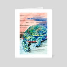 Snapping Turtle - Art Card by Kelly Rasmussen