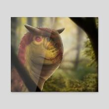 Carnotaurus sastrei - Acrylic by Sante Mazzei