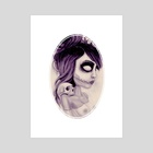 dearpain +Deathlike Skull Impression+ - Art Print by Rouble Rust