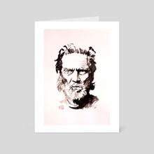 jeff bridges - Art Card by philippe imbert