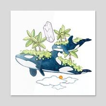 orcas - Acrylic by riotopolis