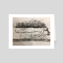 Figure Drawing Study - Art Card by Parag Patre
