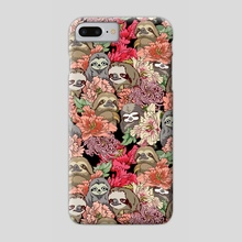 Because Sloths - Phone Case by huebucket