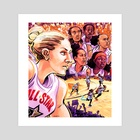 WNBA All Stars 2019 - Team Delle Donne - Art Print by Kevin Czap