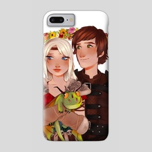 Astrid & Hiccup - Phone Case by Anna Rosenkrans Birkedal
