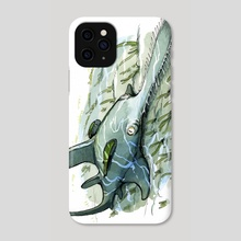 Saw Shark - Phone Case by JP Vine