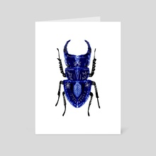 Blue Beetle - Art Card by Crystal Smith