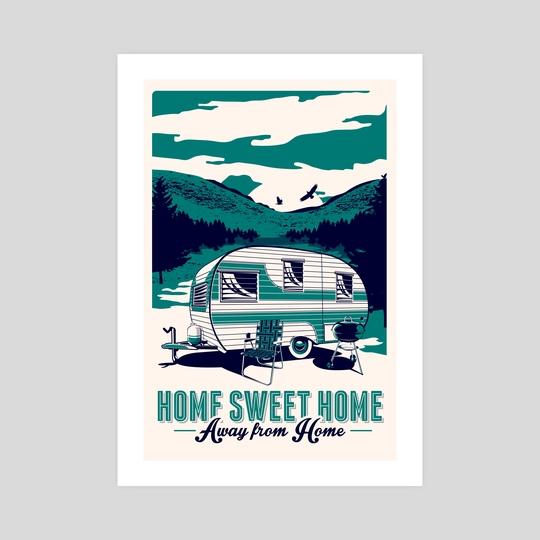 vintage rv retro camping trailer camper summer by matt schnepf