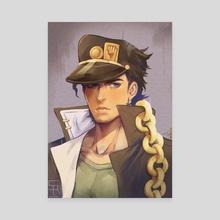 Jotaro Kujo - Jojo's Bizarre Adventure - Canvas by Sayrenka