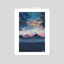 Misty Mountains  - Art Card by Kristine Linnea