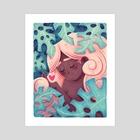Plant lady #1 - Art Print by Patrycja Fabicka