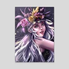 Flower Girl - Acrylic by Pomelyne .