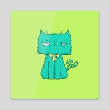 Furrry Cat - Acrylic by Michael Macneil