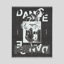 dance through the pain (black) - Canvas by luke jones