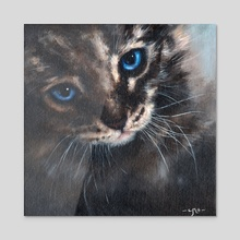 Old Blue Eyes - Acrylic by Chris Moult