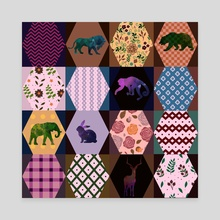 Graphic patchwork 17 - Canvas by Michal Eyal