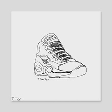 "Reebok x Allen Iverson's ""Question Mid"" (Single Line Drawing) - Acrylic by Trae Tay"