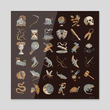 Elements of time - Acrylic by Kathleen Jennings