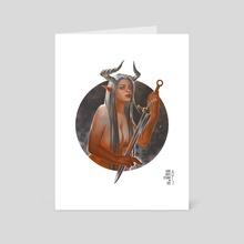 The Sword Maker - Art Card by Agung Wahyu Setiawan