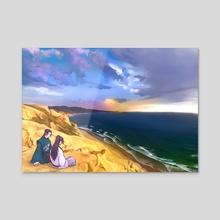 Cliffside - Acrylic by Shannon Liuag