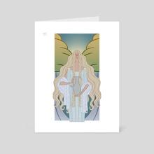 Galadriel portrait - Art Card by Cassandra McLean