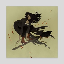 Broom Ride - Canvas by Abigail Larson