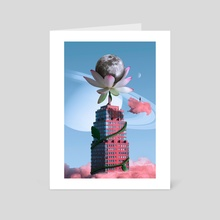 The Giant Flower - Art Card by Design Adiction