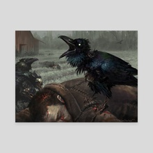 MTG - Carrion Crow - Canvas by Aaron Miller