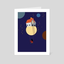 Swing in space - Art Card by Michal Eyal