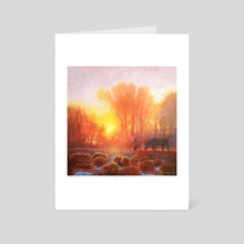 Dialogue With the Morning - Art Card by Arthur Herring