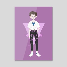 Shinji - Acrylic by ☽ Alessia ☾