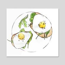 Arugula for Breakfast - Acrylic by Jenna Kessler