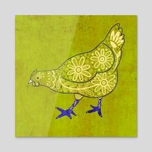 Hen 1 - Acrylic by Bianca Strete