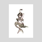 Mermaid  - Art Print by Susan Bibinski