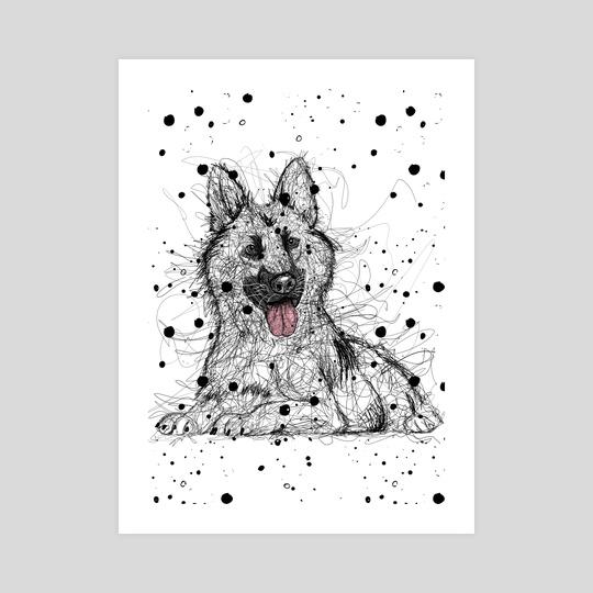 Scribble German Shepherd by LemoBoy