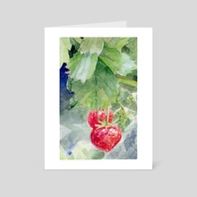 Strawberries - Art Card by A T